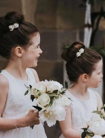 flowergirls bouquet mcgarry wedding design fermanagh